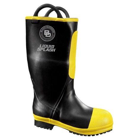 Black Diamond Rubber Firefighter Boot