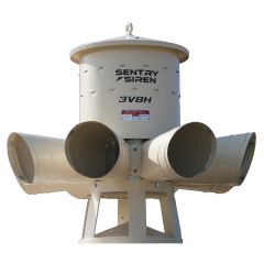 Single-Phase or Three-Phase Siren with Projection Horns