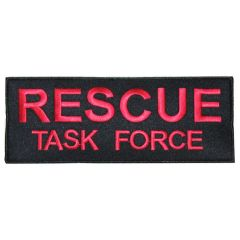 Rescue Task Force Patch - Red on Black