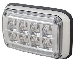 "4"" x 6"" Diamondback™ LED Perimeter Warning Light Chrome Bezel Option"