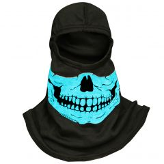 Fire Ink Glow In The Dark Blue Skull Hood