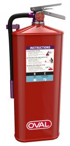 10 lb Dry Chemical Purple K, BC fire extinguisher
