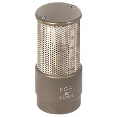 "1 1/2"" NH Female Barrel Strainer with Poppet"