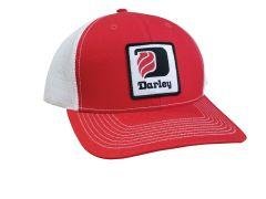 Red Darley Trucker Hat w/patch