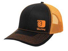 Black/Neon Orange Trucker Hats