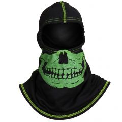 Fire Ink PAC F20 Black Ultra C6 Hood w/Green Skull