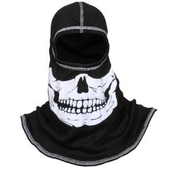 Fire Ink PAC F20 Black Ultra C6 Hood w/White Skull