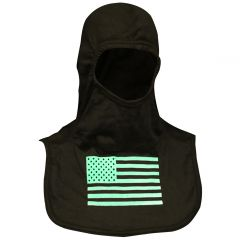 Fire Ink Glow In The Dark Green Flag Hood