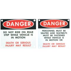 Passenger Warning Signs