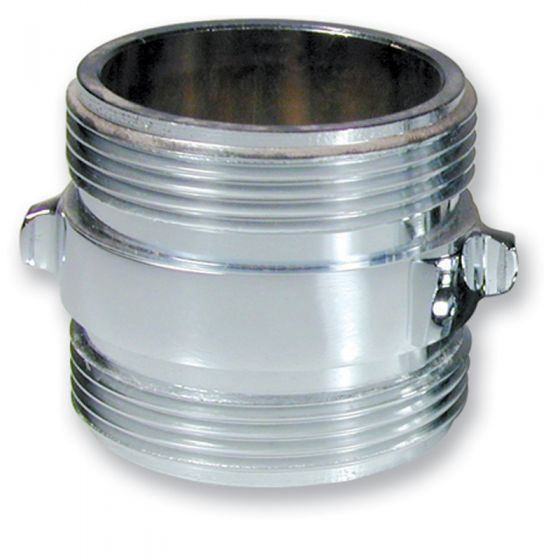 Chrome Double Male Adapter