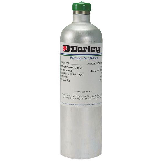 Calibration Gas - 34 Liter Alum. Cyl. (CO, H2S, Comb. & 02)